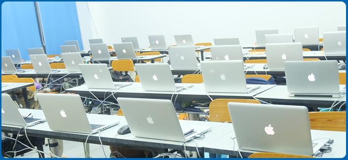 高端苹果机教室